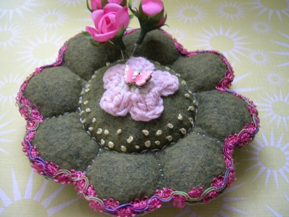 Spring  Pin Cushion Flower-2nd in the Series