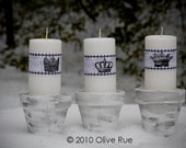 Digital Download No. 160 French,  Paper Bands for Candles