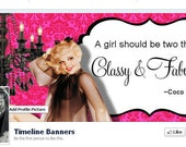 Premade  Classy and Fabulous,  Facebook Cover, Timeline Banner,