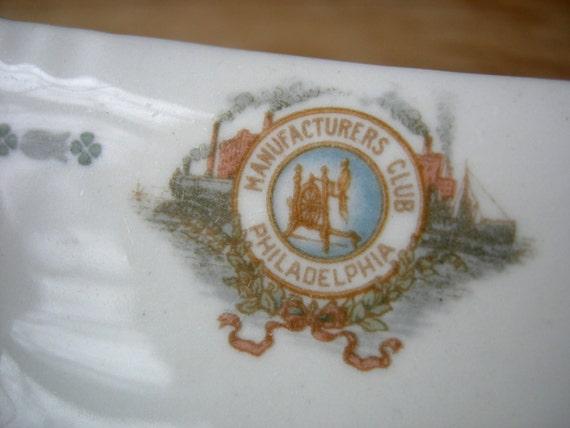 Antique Philadelphia Manufacturers Club China Bowl, Scammell Lamberton China