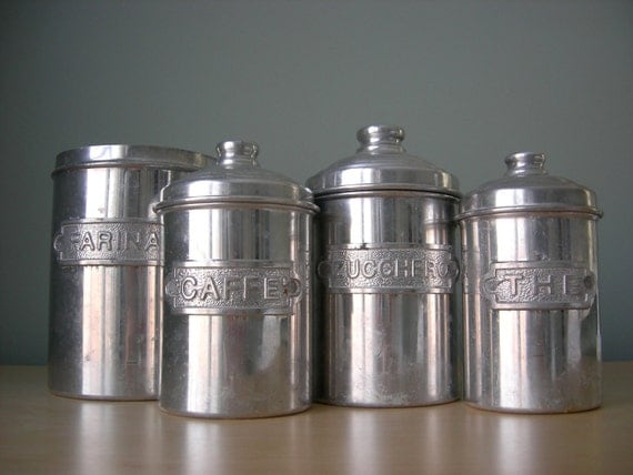 italian canister set by tippleandsnack on etsy