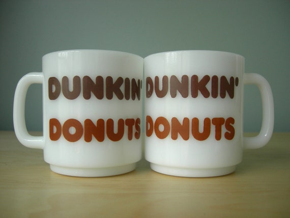 Pair of Dunkin Donuts Coffee Mugs