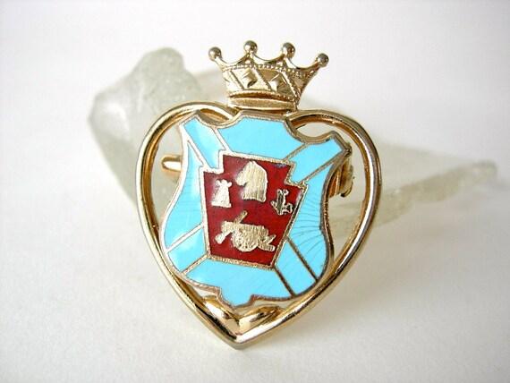 Coro Crown & Crest Pin
