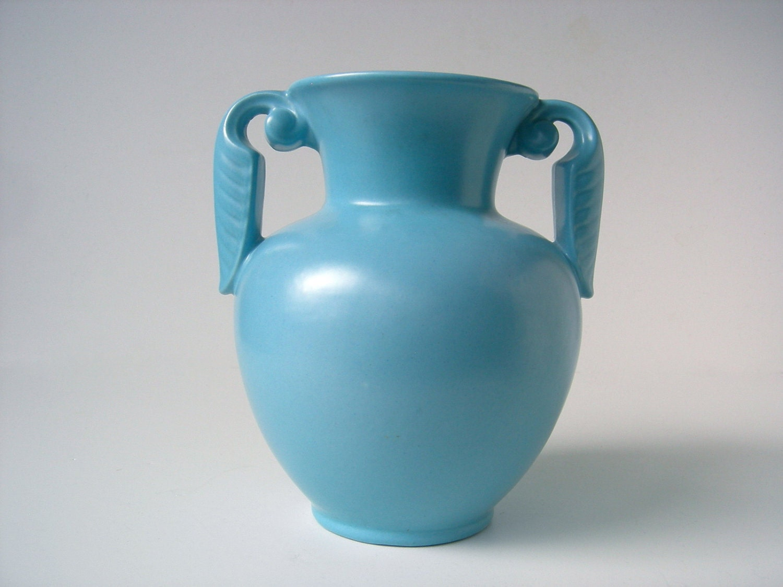 Matte Blue Stangl Pottery Vase 3104