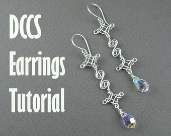 Tutorial - Double Celtic Cross and  Scrolls Earrings (Easy)
