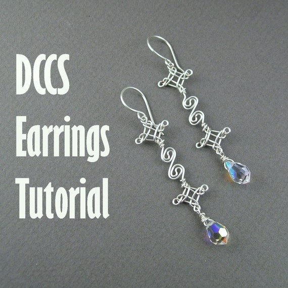 Tutorial - Double Celtic Cross and  Scrolls Earrings (Easy)