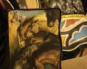 Decorated Box Dark Equestrian Western Horses