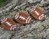 Crochet Football Appliques,  Summer embellishment  for any project,  Custom made to order