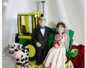 Tractor, Farm, Country Wedding Cake Topper