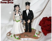 Police Officer Groom Handcuffed to Nurse Bride