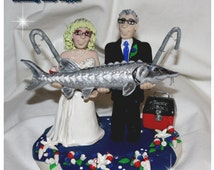 A Fish Tail Wedding Cake Topper, Fish, Fishing, Sturgeon, Muskie, Bass