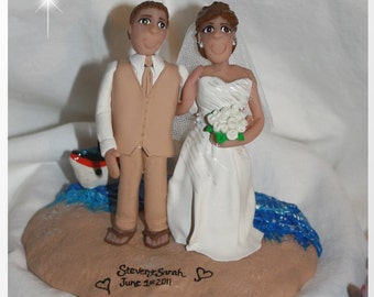 Married on a Cruise Ship Wedding Cake Topper