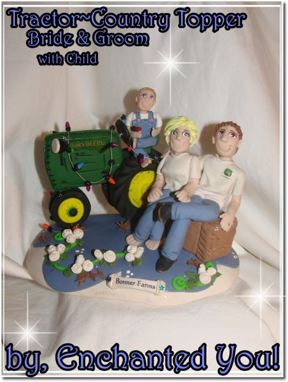Tractor Country Farm Wedding Cake Topper With By EnchantedYou54449