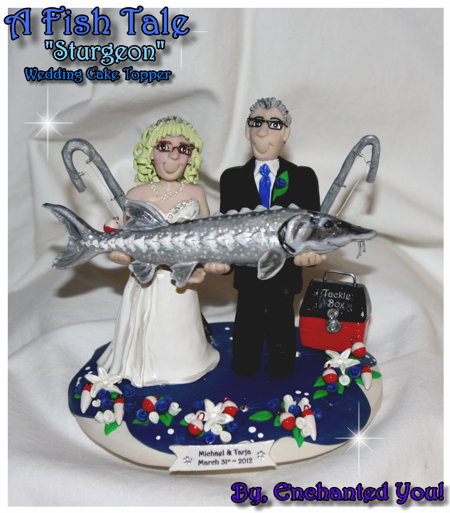 A Fish Tail Wedding Cake Topper Fish Fishing By