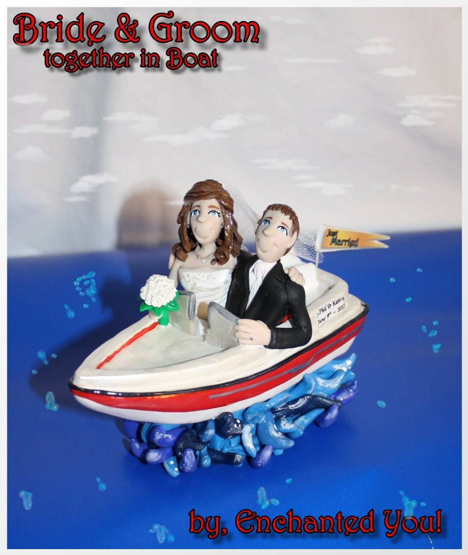 boat wedding cake topper wedding cake topper amp groom in a boat by 1991