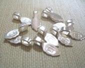 10 Large Sterling Silver Plated Aanraku Bails