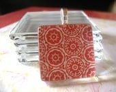 20pk...25mm glass tiles... 1 INCH Crystal Clear Glass Tiles...Glass Cabochons, Square Glass, Magnets, pendants