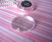 20...25mm Domed Circle Crystal Clear Glass