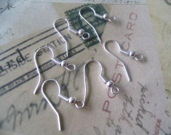 100 Silver Plated Earring Earwire hooks...SPEH