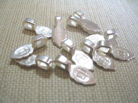 10 Small Sterling Silver Plated Aanraku Bails...