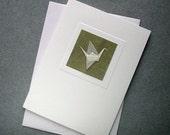 Origami Peace-Crane card