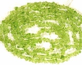 """Long 36"""" Strand of 3-5mm Peridot Chips Loose Gemstone Beads ETSY-A"""
