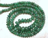 Plain Real Emerald Cabochon Rondelle 3.8mm-4.2mm (20 Loose Beads)  Select the Size you want  ETSY-A