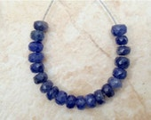 Natural PRECIOUS 4.5mm SAPPHIRE (20 FACETED Rondell) 11.7Ct A+ Etsy-A