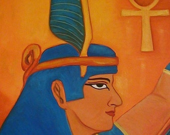 Ma'at - Ancient Egyptian goddess oil painting