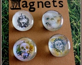 Glass Magnet Set - Skulls