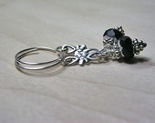 Lil Black Dress - Black Sterling Silver Dangle Earrings
