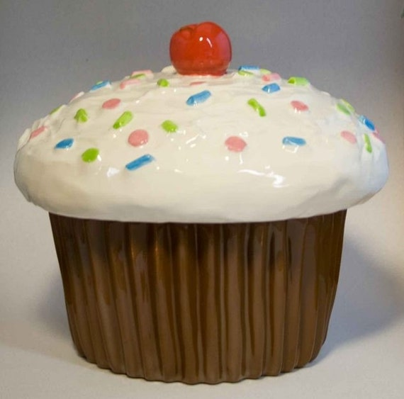Giant Cupcake Cookie Jar Canister By Apiecebydenise On Etsy