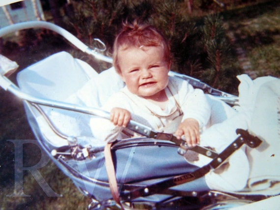 Vintage Baby Stroller Photograph Color 1960