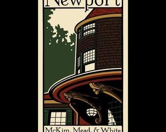 Newport - McKim, Mead, and White in Rhode Island silkscreen print