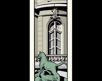Rhode Island Homes - Newport silkscreen print