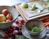 Large Rustic Cream Serving Bowl