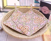 Lotus Temple Kitchen Pot Holders Set of Two  Add some color to your home