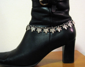 MAPLE LEAF BOOTLET, an anklet you wear over your boot with striking silver Maple Leaf design, sexy