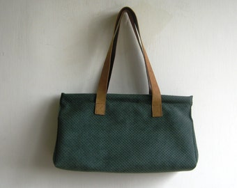 Green Dotted Tote Bag