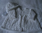 Little Hannah-------Baby Sweater and Bonnet Set
