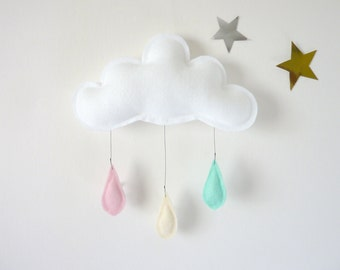 Cloud mobile.... Rain of colors....Mint,cream and Powder Pink