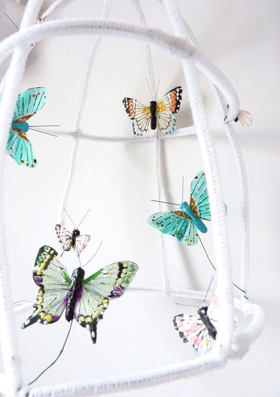 Poetic butterfly house...turquoise