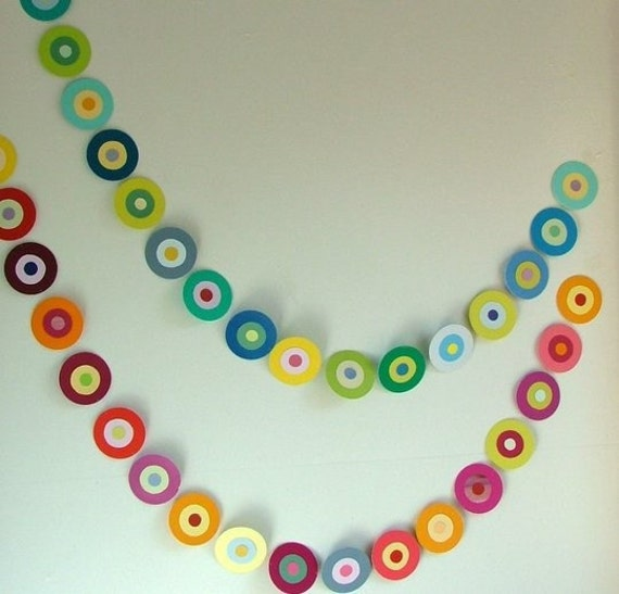 Last One Spring Paint Chip Garland.....Blue-Green-Yellow-Grey-Brown....