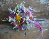 A dried flower wand for your flower girl at your fairy tail, Cinderella, summer or fall wedding.
