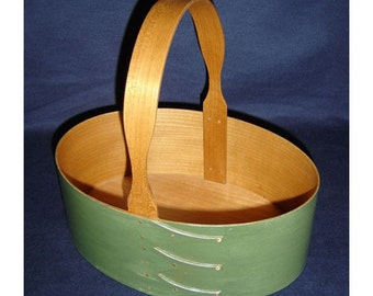 No. 5 Cherry Fixed Handle Shaker Carrier - Painted in Green