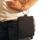 Front Page Trendy Black Pouch and Wristlet
