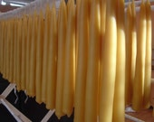 6 sets Beeswax Taper Candles 8""