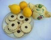 Lemon flower cookies