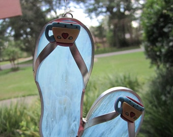 Coffee Cup Flipflop Suncatcher