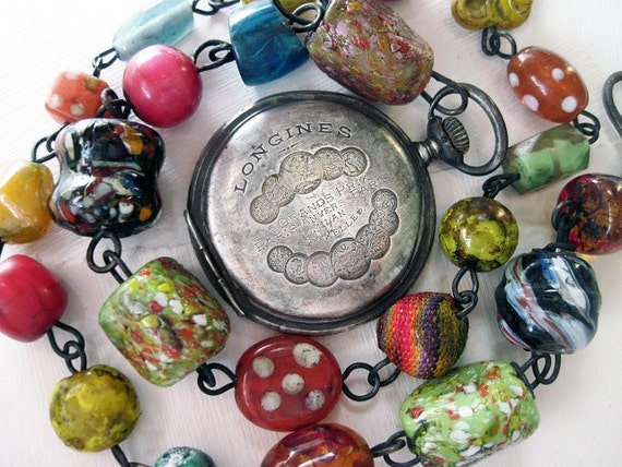 A Summer Childhood. Victorian Tribal Bollywood AntiquePocket Watch Assemblage.